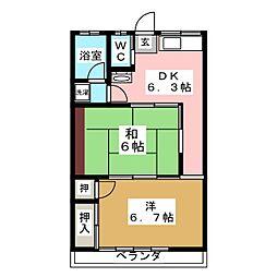 丹野ハイツ[2階]の間取り