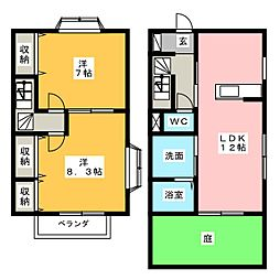 [テラスハウス] 愛知県小牧市応時1丁目 の賃貸【/】の間取り