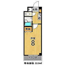 エクシードII[212号室]の間取り