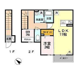 クラフト Room[2階]の間取り