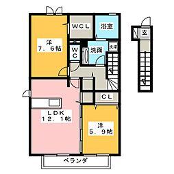 仮)D−room大園町[1階]の間取り