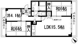 栄南団地[4階]の間取り