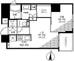 ピュア・アクア大森 bt[-1401号室]の間取り