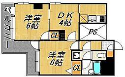 ピュアドームベイス博多[11階]の間取り