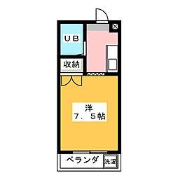 大岡駅前ハイツ[3階]の間取り