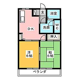ディアス新清谷[1階]の間取り