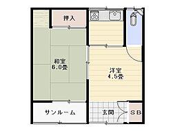 西村アパート[102号室]の間取り
