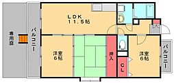 セントレージ博多[1階]の間取り