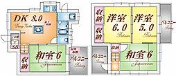 [一戸建] 大阪府茨木市平田2丁目 の賃貸【/】の間取り