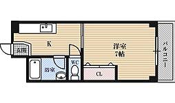 マンション富士[5階]の間取り