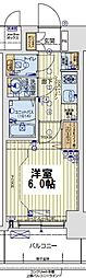 レオンコンフォート京橋EAST 7階1Kの間取り