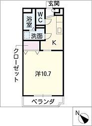 ルミエールハイム24[3階]の間取り