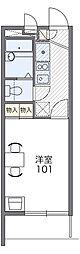 Osaka Metro今里筋線 清水駅 徒歩11分の賃貸マンション 3階1Kの間取り