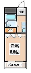 OMレジデンス八戸ノ里[3階]の間取り