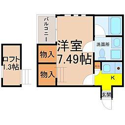 ノヴェル東別院[4階]の間取り