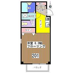 メゾン・ド・タキ[201号室]の間取り