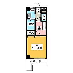サンハイム新守山[4階]の間取り