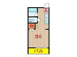 千葉県船橋市西習志野2の賃貸アパートの間取り