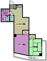 ガーデンパーク・カタノ[305号室]の間取り
