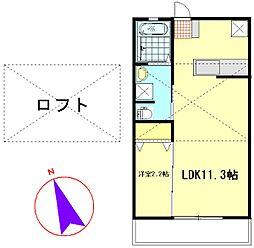 神奈川県横須賀市衣笠栄町3丁目の賃貸アパートの間取り