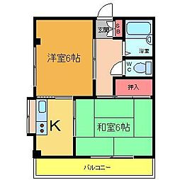 ハイム・ユー[1階]の間取り