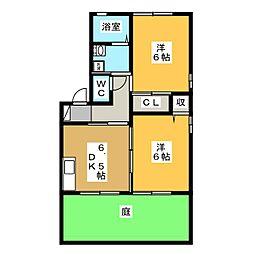 フレグランス東栄C棟[1階]の間取り