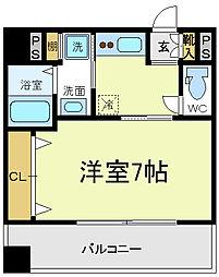 エイペックス四天王寺2[8階]の間取り