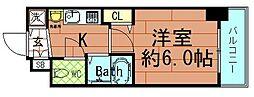 プレサンス東本町Vol.2[5階]の間取り