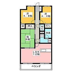 ライオンズマンション野田公園[3階]の間取り