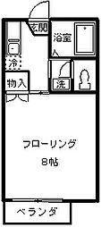 ネオファミーユ天台[203号室]の間取り