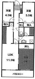 ソシアル検見川2[402号室]の間取り