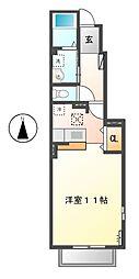 アーバンヴィラ B[1階]の間取り