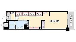 JR東海道・山陽本線 姫路駅 バス10分 元町3丁目下車 徒歩4分の賃貸マンション 5階ワンルームの間取り