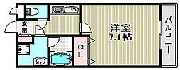 大阪府堺市北区船堂町2丁の賃貸アパートの間取り