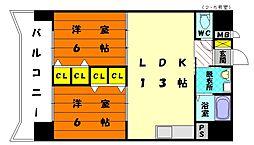 アネックス3[2階]の間取り