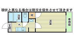 松本ハイツC棟[102号室]の間取り