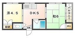 第2松田ハイム[4階]の間取り
