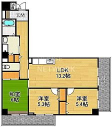 サイト安朱[502号室号室]の間取り