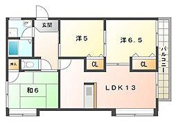 宮野コーポ[3階]の間取り