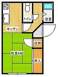 佐賀県唐津市菜畑の賃貸アパートの間取り
