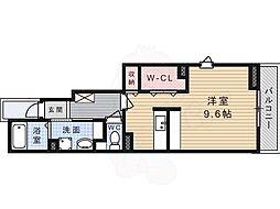 阪急京都本線 水無瀬駅 徒歩7分の賃貸アパート 1階ワンルームの間取り