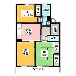 サクセスすずき[4階]の間取り