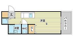 APT雄徳山[206号室]の間取り