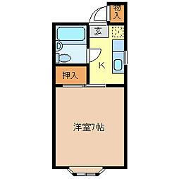 コーポT・K[1階]の間取り