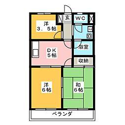 にしき今泉新町ハイツIII[1階]の間取り