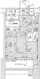 デュオ・スカーラ赤坂II 7階1DKの間取り