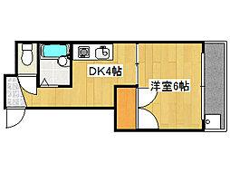 兵庫県神戸市灘区友田町1丁目の賃貸アパートの間取り