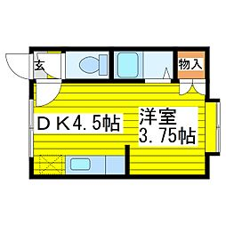 北海道札幌市東区北十二条東11丁目の賃貸アパートの間取り