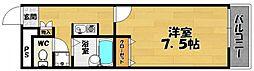 プレジールエクセレント[2階]の間取り