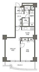 文京グリーンコートビュータワー本駒込A棟 11階1LDKの間取り